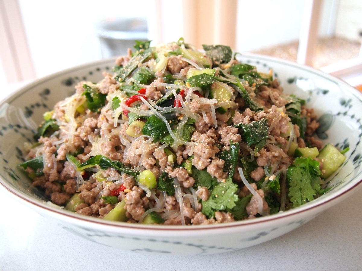 Larb – Laotian Chicken Mince : Recipe