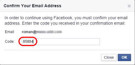 Confirm your email id
