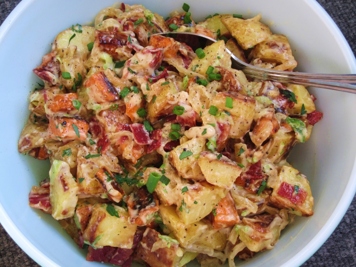Creamy Potato Salad With Bacon : Full Recipe
