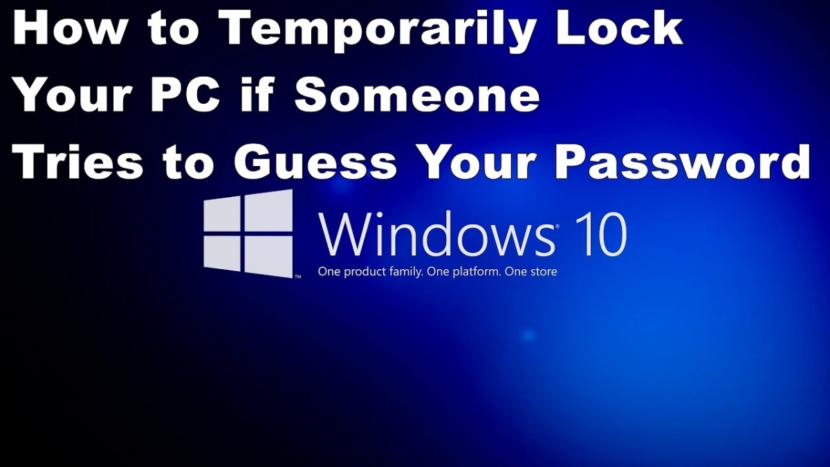 How to Temporarily Lock Your PC