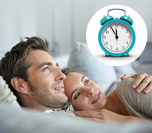 Go to bed at the same time as your partner