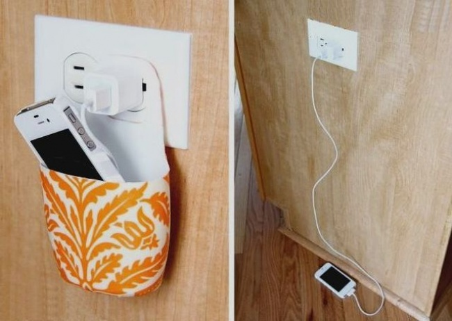 Phone charger holder
