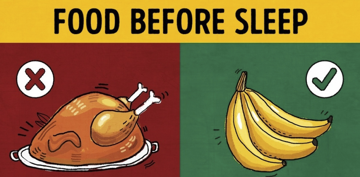 Some Food Product You Should And Shouldn't Eat Before Sleep